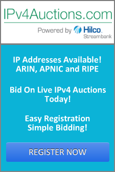 Register for IPv4 Auctions