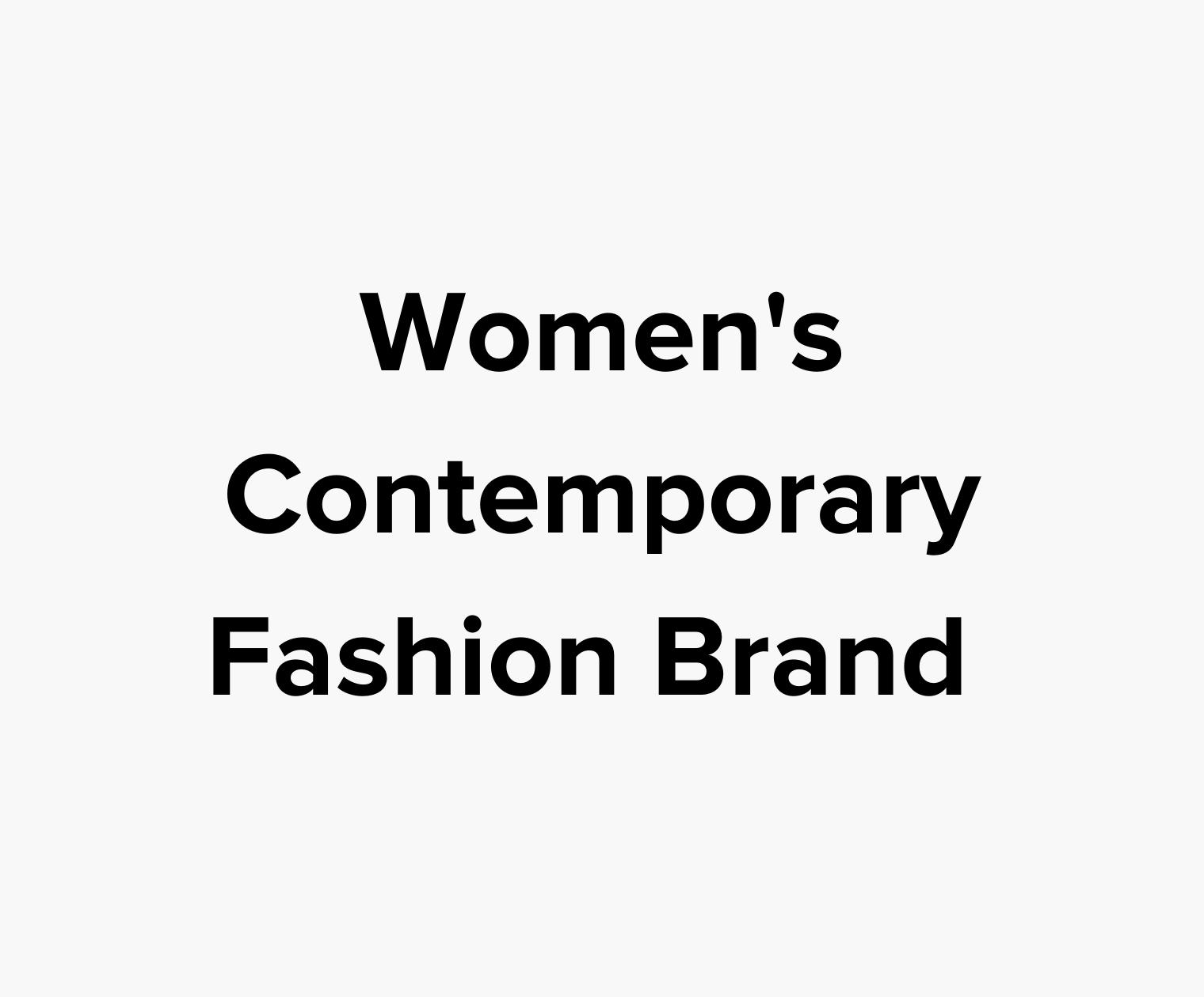 Women's Contemporary Fashion Brand